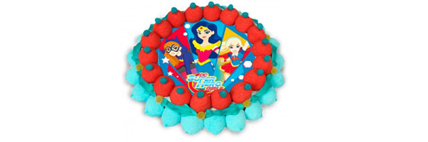 mensaje tarta super hero girls