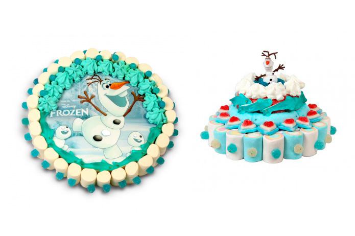 Tartas de chuches de Frozen