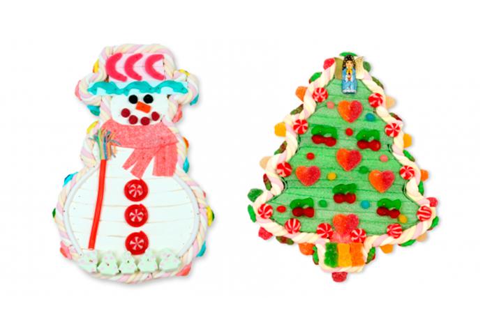Tartas de chuches de Navidad