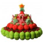 Tarta de chuches de Navidad