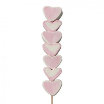 Brocheta de corazones San Valentín