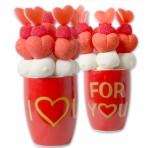 Taza roja San Valentín con chuches