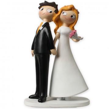 Pareja novios para tarta de boda