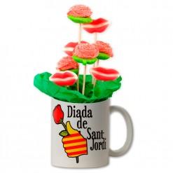 Taza de chuches Diada de Sant Jordi