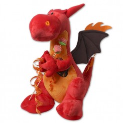 Peluche grande dragón de Sant Jordi Rojo
