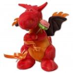 Dragón de Sant Jordi con rosa de chuches