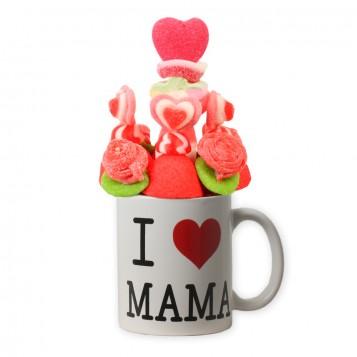 Taza de chuches I LOVE MAMA