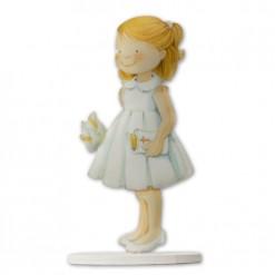 Figura de metal para tarta de comunión niña