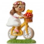 Figura para tarta de comunión niña en bici