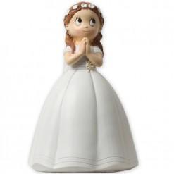 Muñeca de Comunión para tarta con vestido acampanado
