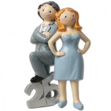 Fiigura novios bodas de plata