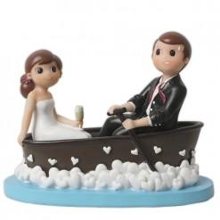 Figura para tarta de boda novios en barca
