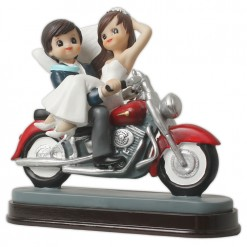 Figura boda novios moto