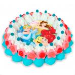 Tarta mediana con oblea Princesas Disney