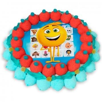 Tarta de chuches mediana Emoji la película