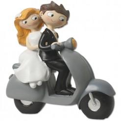 Figura boda novios en moto