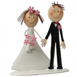 Figura de metal para la tarta de boda