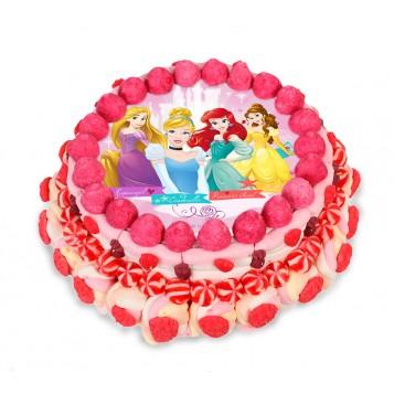 Tarta de chuches grande oblea Princesas Disney