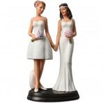 Figura para tarta de boda chicas