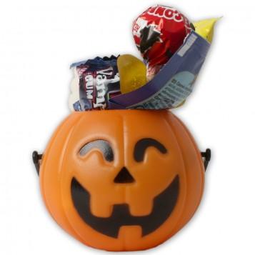 Mini calabaza de Halloween con chuhces