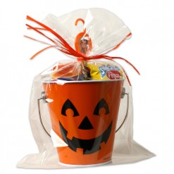 Cubo calabaza de Halloween