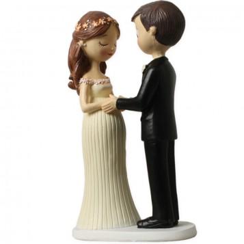 Figura de novios  novia embarazada
