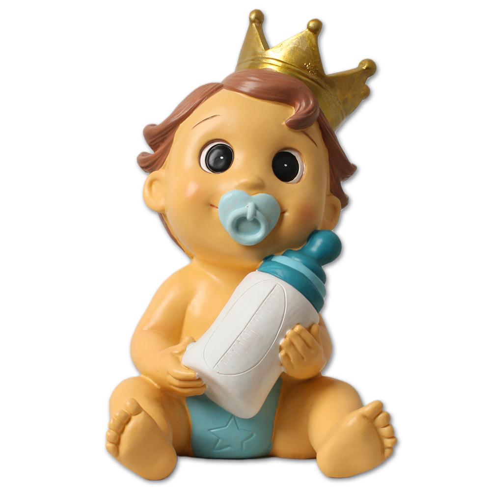 Huchas Para Bebes.Figura Hucha Nino Con Corona Para Bautizo