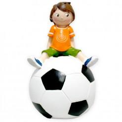 Figura para comunión niño con pelota de futbol
