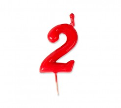 Vela Palillo Roja Nº2