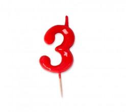 Vela Palillo Roja Nº3