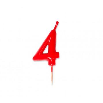 Vela Palillo Roja Nº4