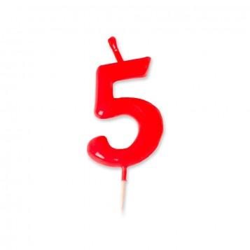 Vela Palillo Roja Nº5