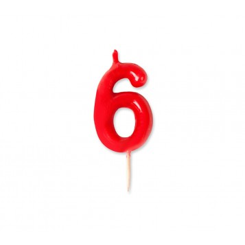Vela Palillo Roja Nº6