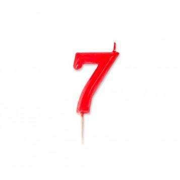 Vela Palillo Roja Nº7