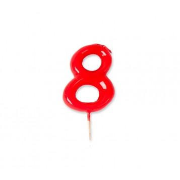 Vela Palillo Roja Nº8