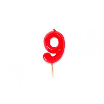 Vela Palillo Roja Nº9
