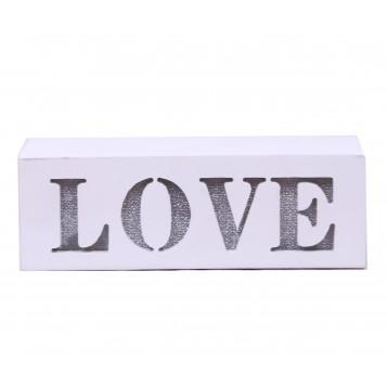 "Caja madera led ""LOVE"""