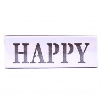 """Caja madera led """"HAPPY"""""""