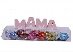 "Letrero ""Mama"" con caja bombones Lindor"