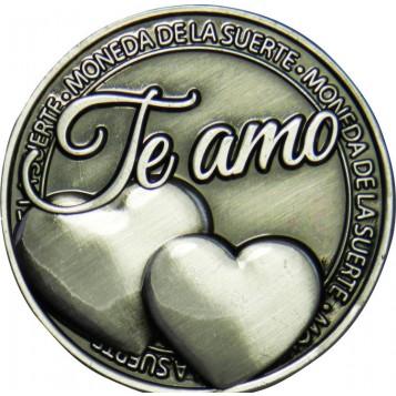 Llavero Moneda Te amo corazón