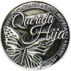 Llavero Moneda Querida Hija