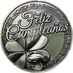 Llavero Moneda Feliz Cumpleaños