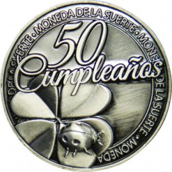 Llavero Moneda 50 Cumpleaños