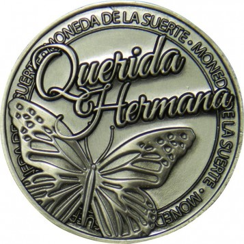 Llavero Moneda Querida Hermana