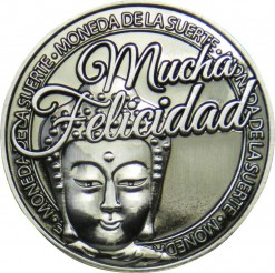 Llavero Moneda Mucha Felicidad