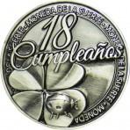 Llavero Moneda 18 Cumpleaños