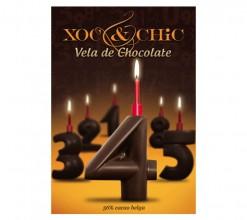Vela Chocolate Nº4