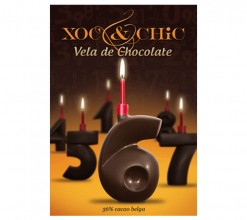 Vela Chocolate Nº6