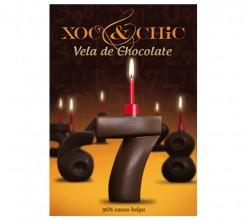 Vela Chocolate Nº7
