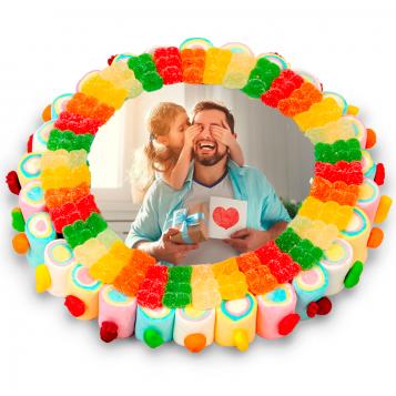 Tarta Oblea Colores Día del Padre